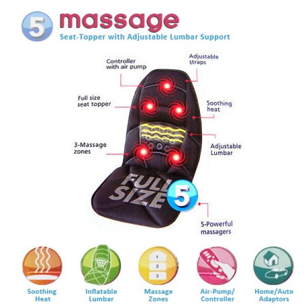 Накидка массажная на сиденье Massage Seat Topper
