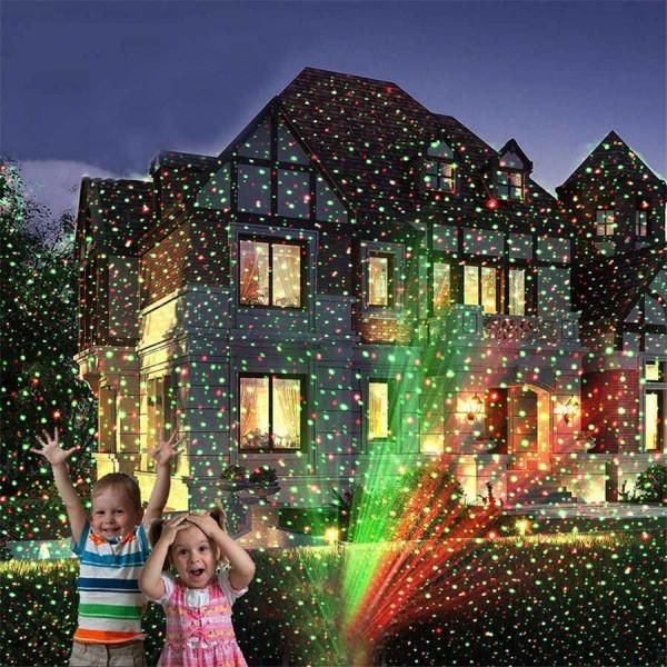 Лазерный проектор новогодний с пультом и изображениями