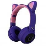 Беспроводные наушники с ушками wireless cat ear headphones ZW-028