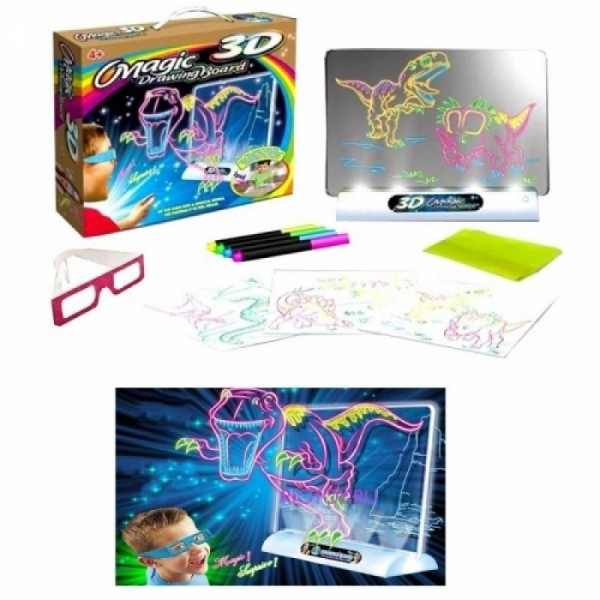 Доска для 3D рисования Magic Drawing Board Динозавры