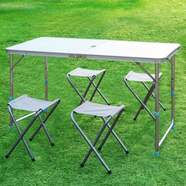 Складной стол и 4 стула Folding Table для пикника