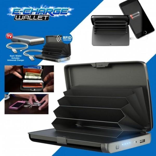 Кошелек-зарядка E-Charge Wallet 10000 мАч