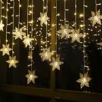 Новогодняя гирлянда штора Снежинки