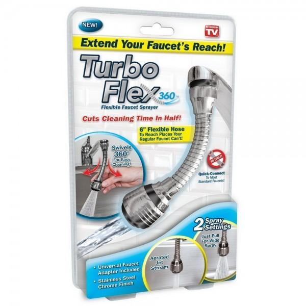 Насадка на кран для экономии воды Turbo Flex 360 (Хром)