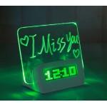 Часы светодиодные с доской для записей Message Board Clock