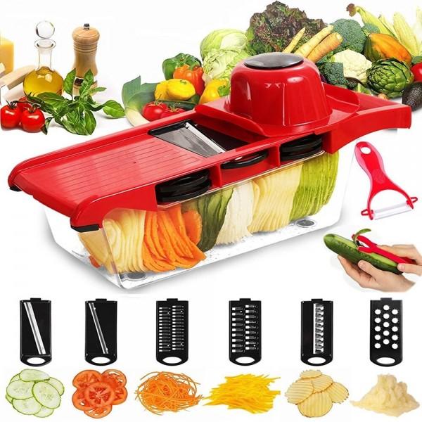 Терка 6 в 1 для овощей и фруктов Multifunctional Wire Cutter с контейнером