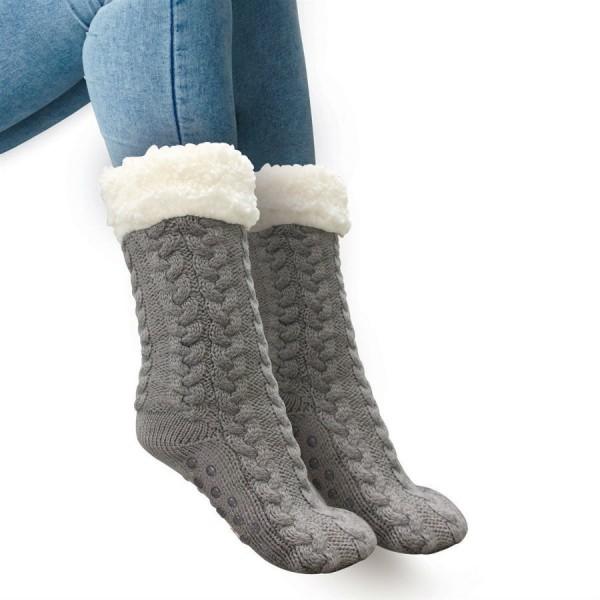 Плюшевые тапочки носки с противоскользящими подошвами Huggle Slipper Socks