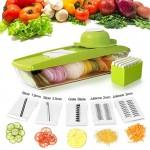 Овощерезка с контейнером (5 разнообразных насадок)