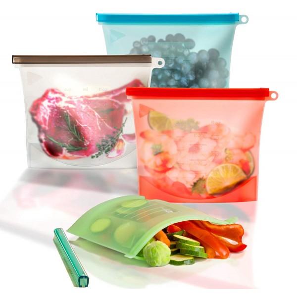 Вакуумный силиконовый пакет для пищевых продуктов Многоразовый (1500 мл)