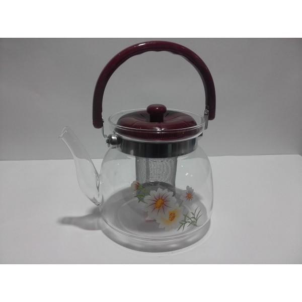 Чайник заварочный TEA & COFFE - жаропрочное стекло (1600 мл)