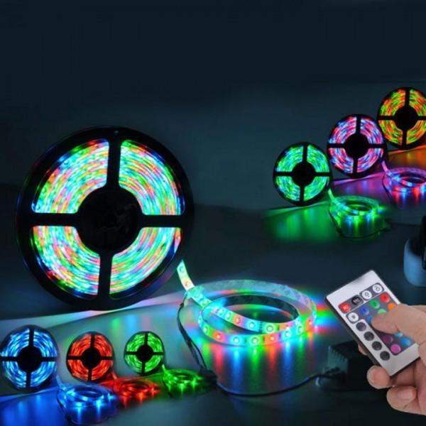 Светодиодная подсветка с пультом управления – 5 метров