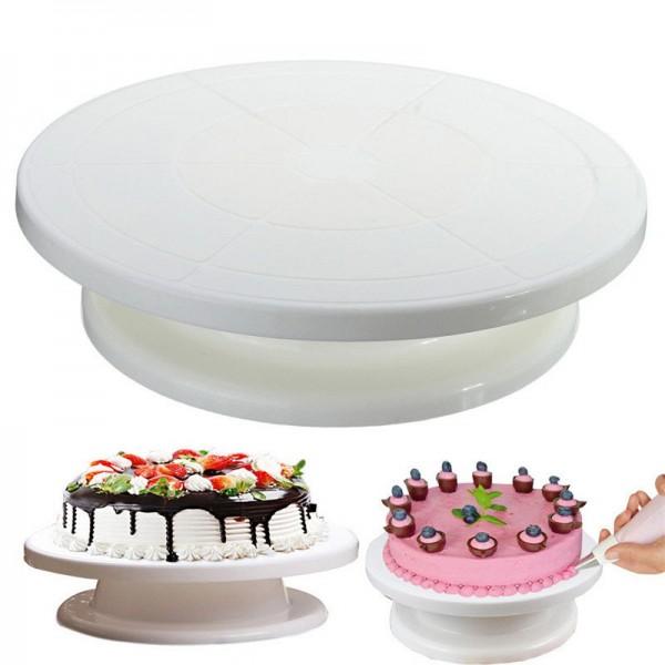 Вращающаяся подставка для декорирования тортов Cake Turntable 28 см