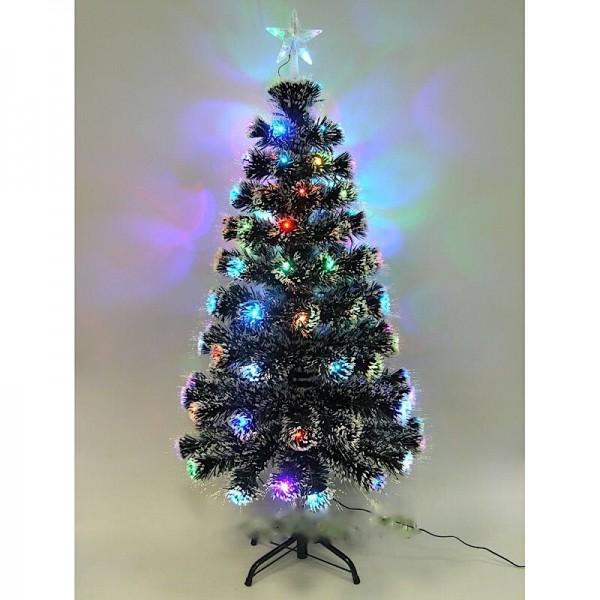 Новогодняя ёлка со встроенной гирляндой 120 см заснеженная
