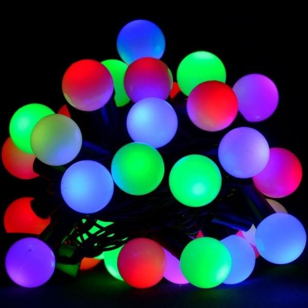 Новогодняя гирлянда - шарики 4 м