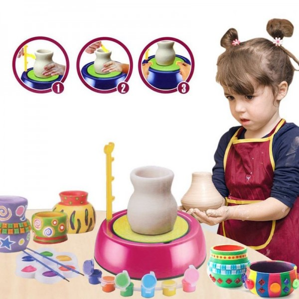 Гончарный набор Pottery Machine For Kids 8+ (Гончарный круг)