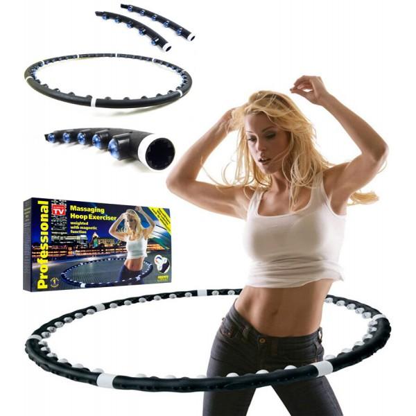 Массажный обруч для похудения с магнитами утяжеленный