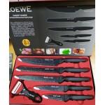 Набор ножей Сила-Гранита 6 предметов, антибактериальное покрытие