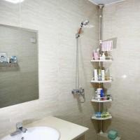 Полка для ванной комнаты угловая телескопическая 4-х ярусная