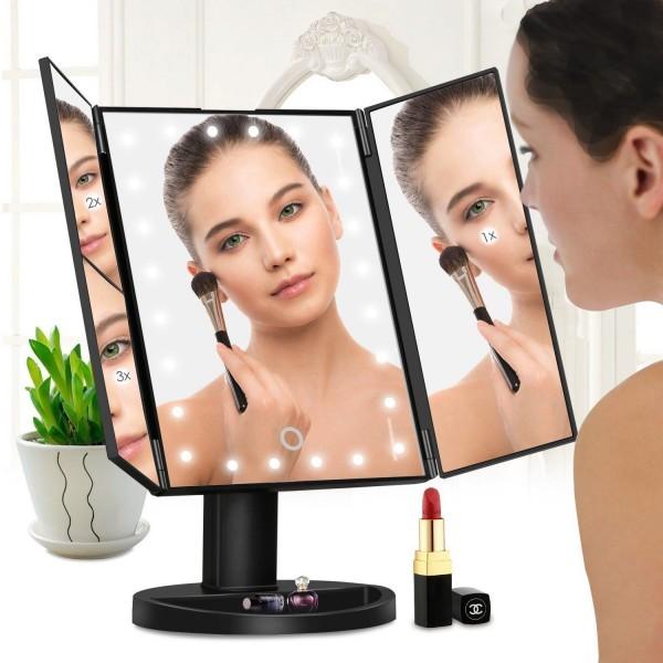 Зеркало косметическое настольное складное