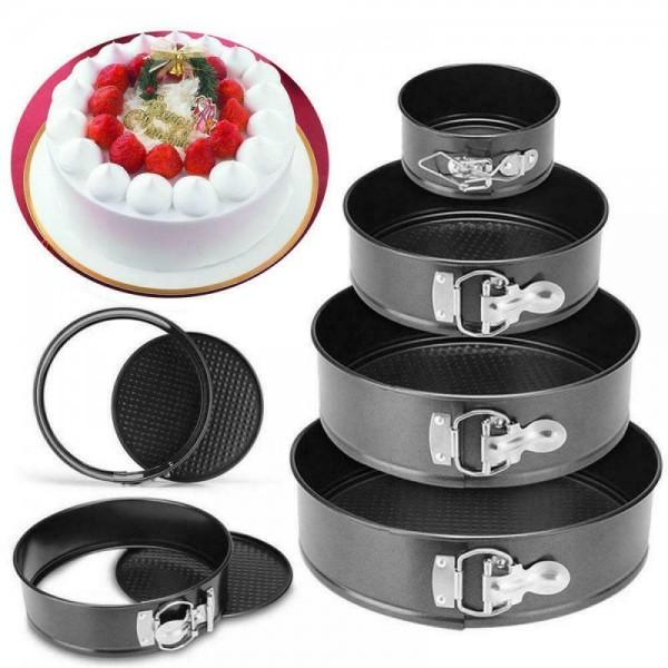 Набор разъёмных форм для выпечки с антипригарным покрытием 6 шт