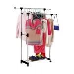 Стойка вешалка для одежды двухуровневая Double-Pole широкая