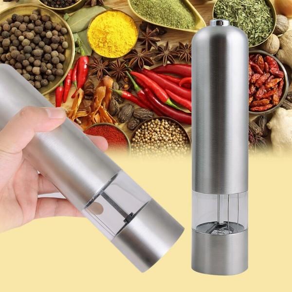 Электрическая мельница для перца и соли (металл)