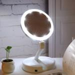 Зеркало для макияжа с подсветкой и органайзером