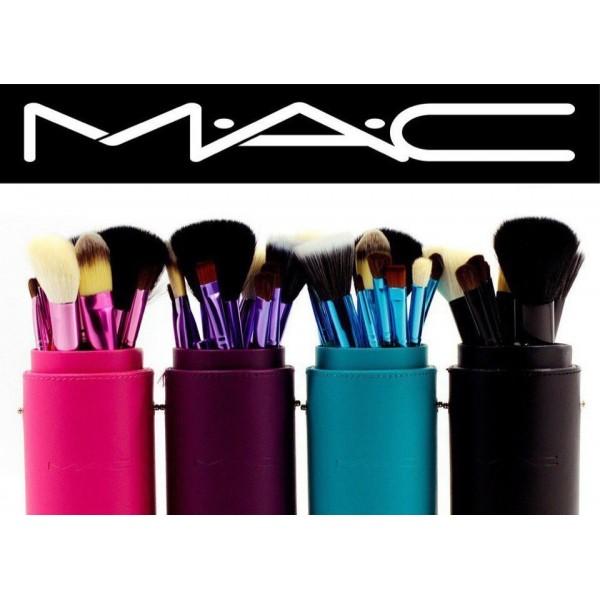 Кисточки для макияжа MAC в тубусе - 12 шт.