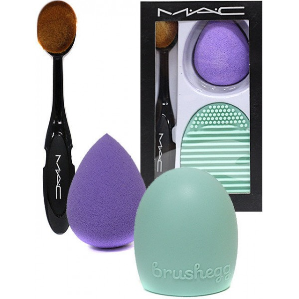 Набор кистей для макияжа MAC 3 в 1