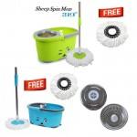 Швабра с системой отжима и полоскания для мытья полов Sheep Fashion Spin Mop 360