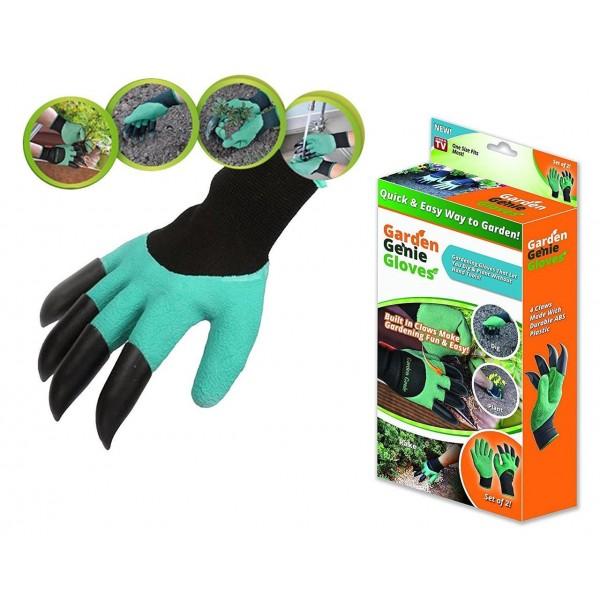 Cадовые перчатки с когтями Garden genie gloves