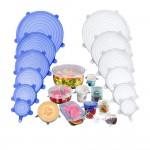 Набор силиконовых крышек для хранения продуктов 6 штук