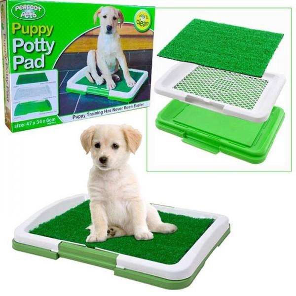 Туалет для щенков Puppy Potty Pad – лоток-травка для щенков и мелких домашних животных