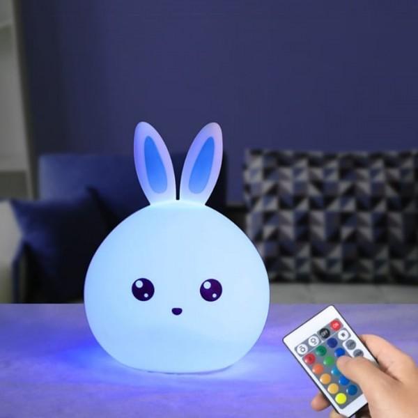 Ночник силиконовый Кролик Rabbit Silicone Lamp с пультом